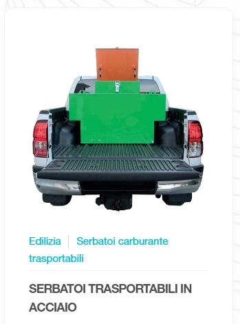 SERBATOI CARBURANTE TRASPORTABILI